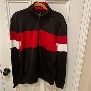 Men's Multi-Color (Black/Red/White) Track Jacket.